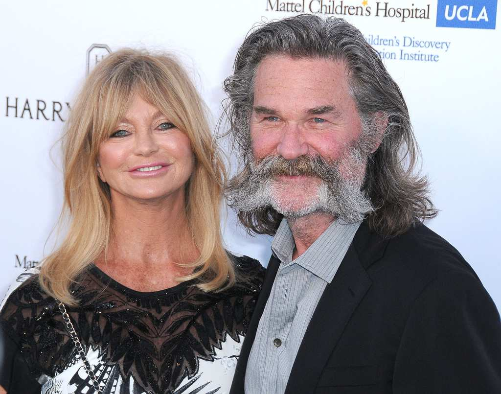 CULVER CITY, CA - MAY 02: (L-R) Actress Goldie Hawn and actor Kurt Russell arrive at Mattel Children's Hospital UCLA Kaleidoscope Ball at 3LABS on May 2, 2015 in Culver City, California. (Photo by Barry King/Getty Images)