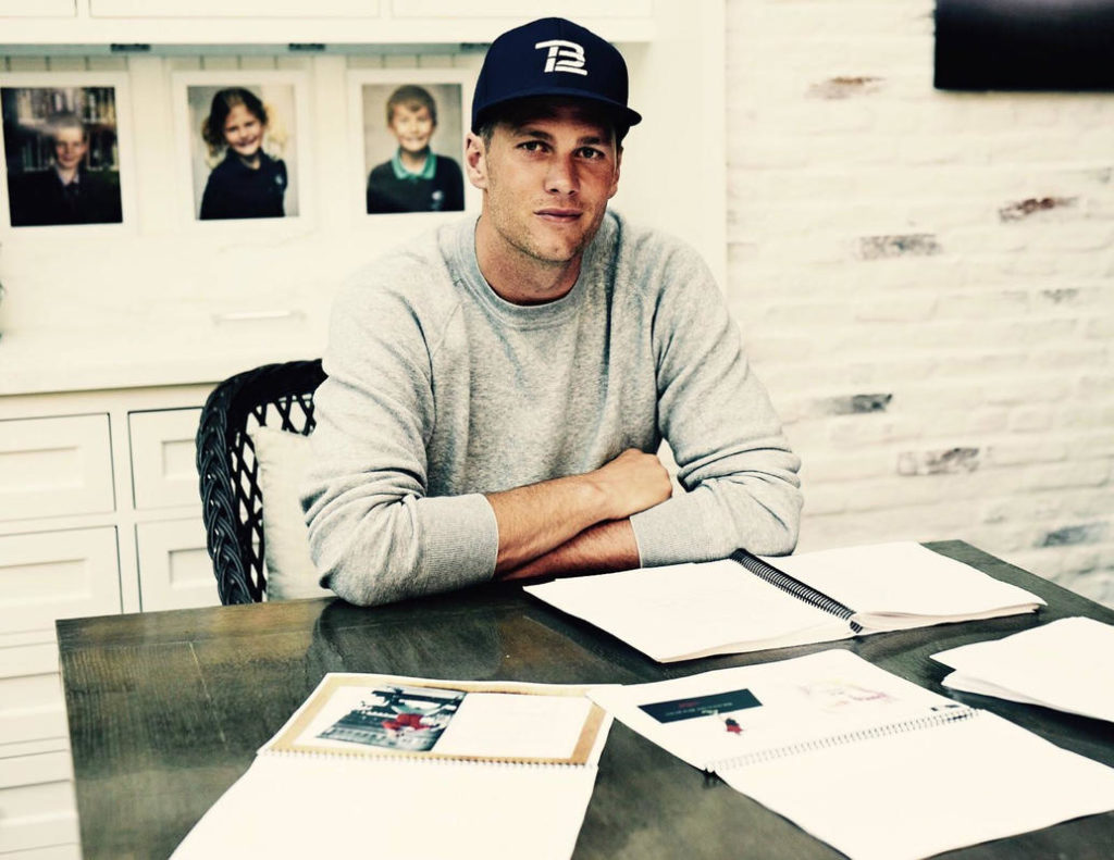 "(070617) New England Patriot Tom Brady announced on his Facebook page that he is writing and releasing a new book called ""The TB12 Method"" soon. This is the photo Brady attached to his announcement. Facebook/Tom Brady"