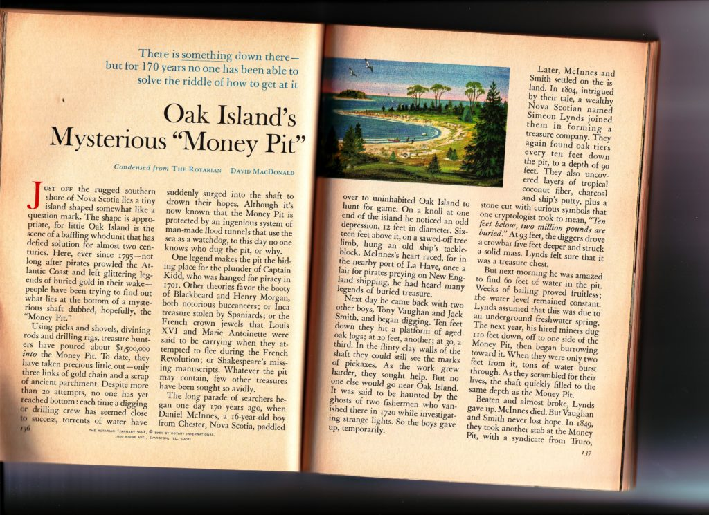 Readers Digest Oak Island Story