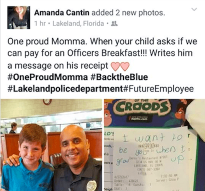 9-Year-Old Boy Gives Police Officer A Note, Changing His Mom's Life
