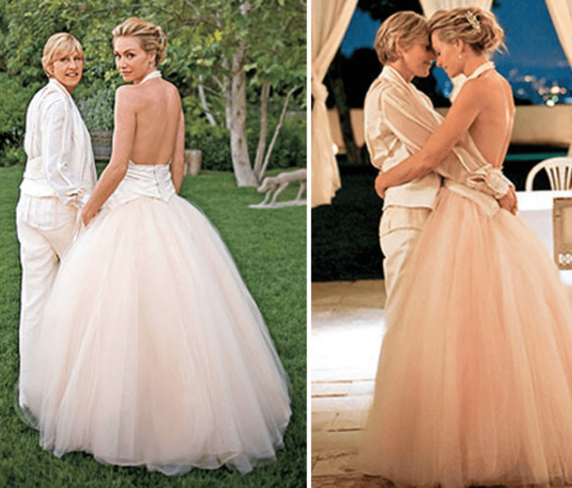 Portia De Rossi Wedding Gown: The Most Unforgettable Celebrity Wedding Dresses Of All